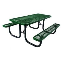 SuperSaver™ Commercial Rectangular Picnic Table (ADA - 2 Chair)