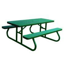 Heavy-Duty Rectangular Plastic-Coated Picnic Tables