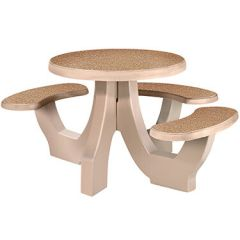 Commercial Concrete Round Wheelchair Accessible Tables