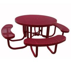 Heavy-Duty Round Plastic-Coated Table