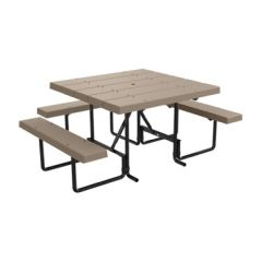 (ADA - 1 Chair) BarcoBoard™ Square Picnic Table