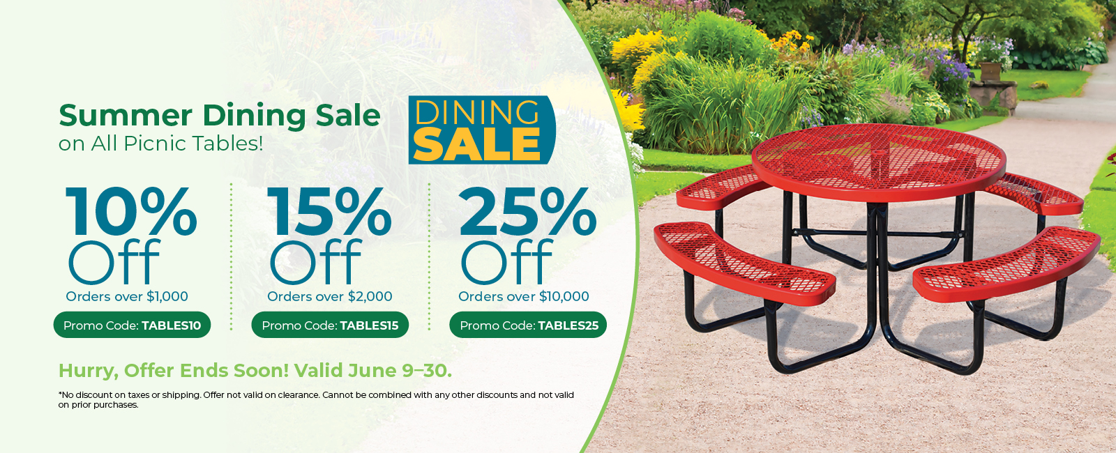 Picnic Tables Promotion